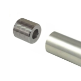 1-5/16 Steel Polished Chrome Tube - 4 Foot - Threaded With Plug