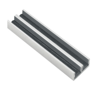Aluminum track 38sw14 a sliding door track guides for 1 4 inch sliding door track