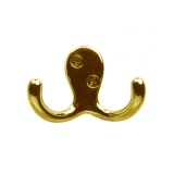 HOOK CH202-ZB - No Screws - Polished Brass