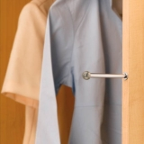 Retractable Valet Rod - Satin Nickel