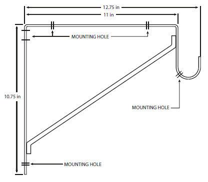 Shelf Amp Rod Bracket 858 Wh 1 5 16 Tube Amp Flanges